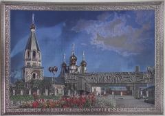 Панно «Мемориальный комплекс «Вечный огонь» и Преображенская церковь». Республика Саха (Якутия) (Размер А3 - барельефное исполнение)