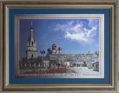 Панно «Мемориальный комплекс «Вечный огонь» и Преображенская церковь». Республика Саха (Якутия) (Размер А3 - рельефное исполнение)